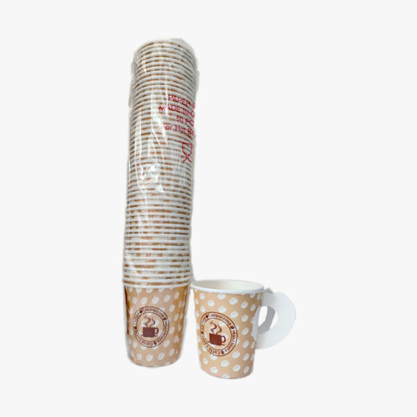 PAPER CUP WITH HANDLE 7OZ 50PCS